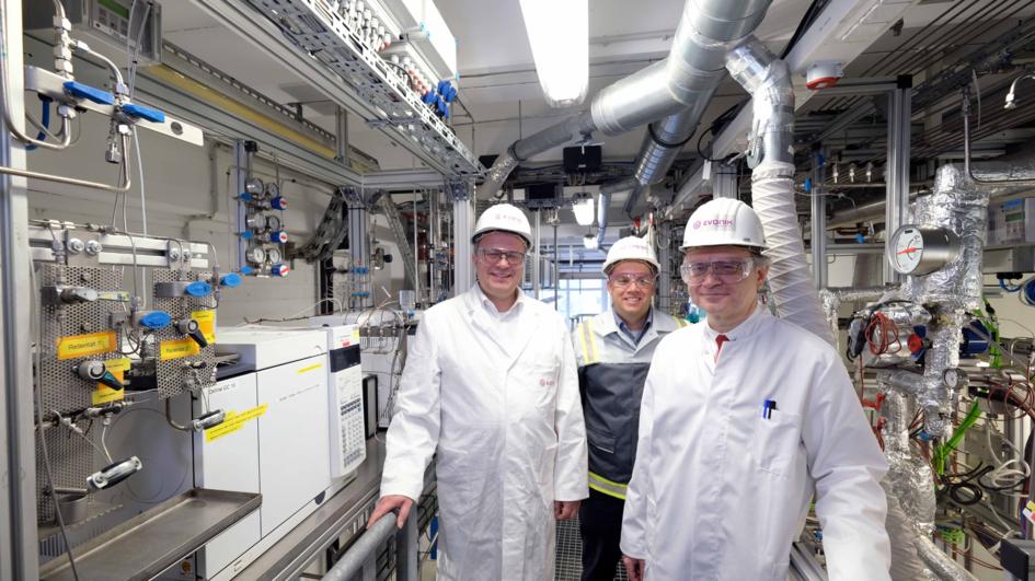 Die Projekt-Verantwortlichen (von links nach rechts): Dr. Marc-Oliver Kristen, Dr. Frank Stenger, Prof. Dr. Robert Franke (das Foto wurde vor Februar 2020 aufgenommen)